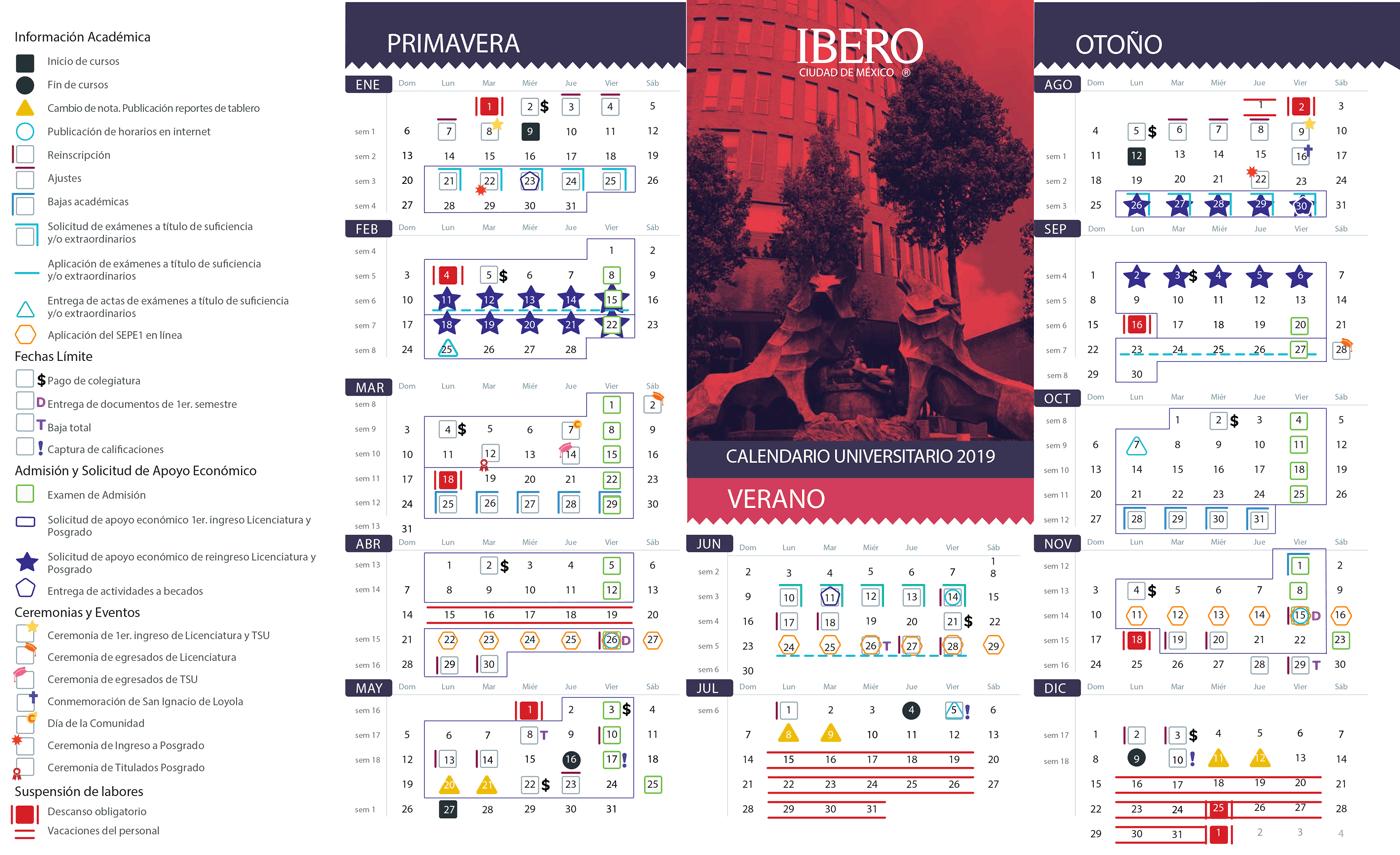 Calendario Verano 2020.Alumnos Calendario Escolar Ibero