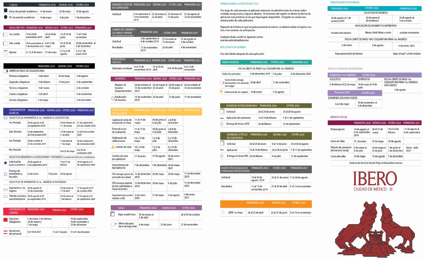 Calendario 2020 Inter.Alumnos Calendario Escolar Ibero